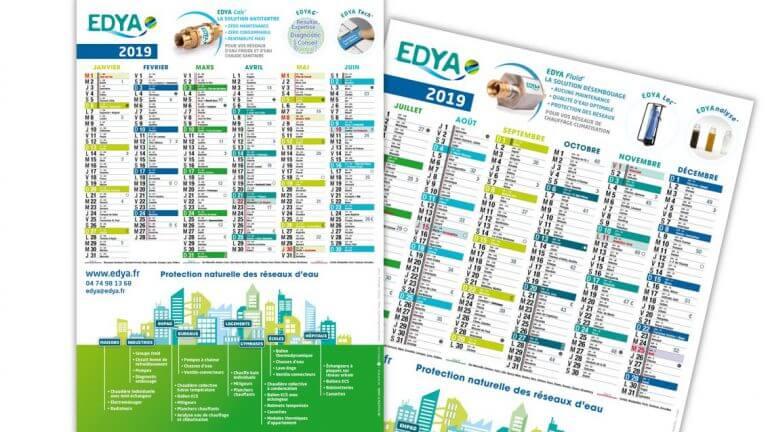 DE BOUCHE A OREILLE • Création originale des calendriers 2019 pour EDYA.