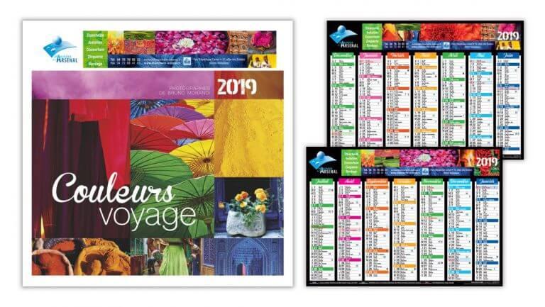 DE BOUCHE A OREILLE • Création originale des calendriers 2019 pour ETANCHEITE DE L'ARSENAL.