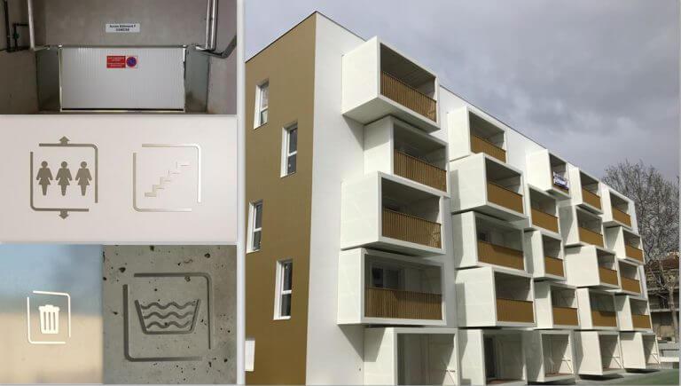 DE BOUCHE A OREILLE • Signalétique immobilière Logements Opération OSMOSE pour NACARAT.