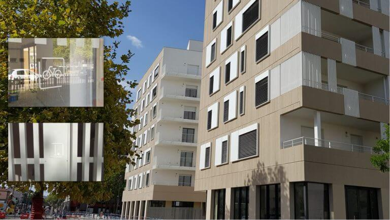 DE BOUCHE A OREILLE • Signalétique immobilière Logements Opération SO'8, Lyon pour NACARAT.