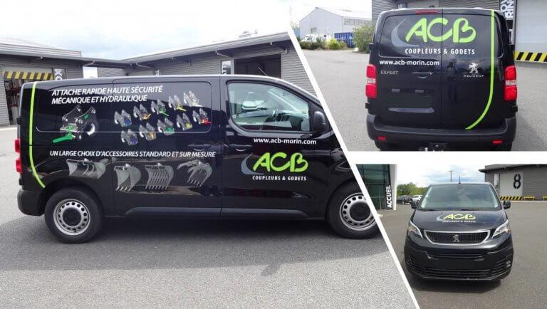 DE BOUCHE A OREILLE • Décoration originale d'un véhicule utilitaire pour ACB.
