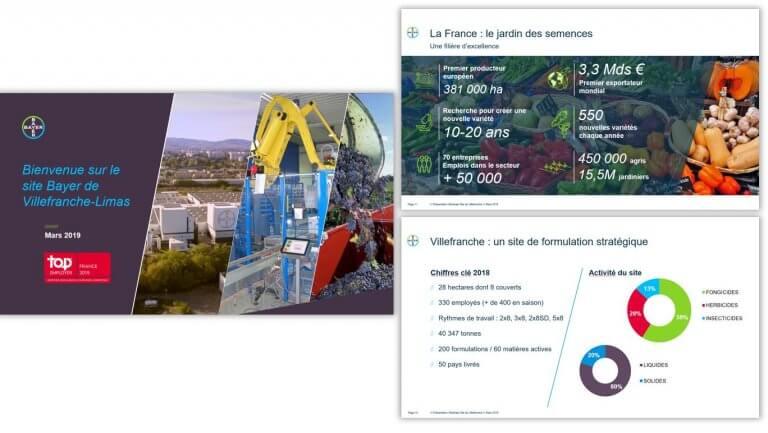 DE BOUCHE A OREILLE • Production d'un support de présentation pour des visiteurs scolaires et étudiants - BAYER, usine de Villefranche-Limas.