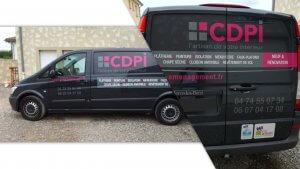 DE BOUCHE A OREILLE • Décoration originale d'un véhicule utilitaire pour CDPI.