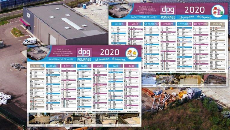 DE BOUCHE A OREILLE • Création originale des calendriers 2020 de DPG POMPAGE.