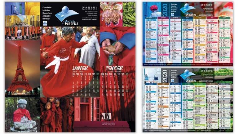 DE BOUCHE A OREILLE • Création originale des calendriers illustrés 2020 d'ETANCHEITE DE L'ARSENAL.