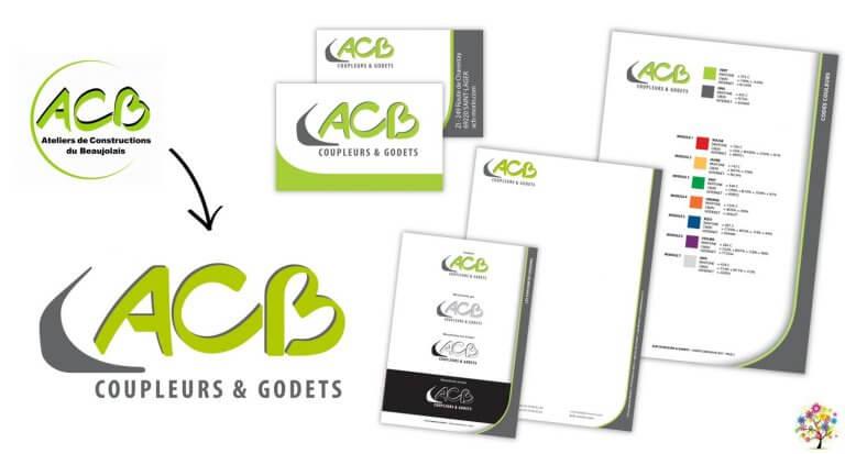 DE BOUCHE A OREILLE • Lifting de l'identité visuelle & déclinaison papeterie pour ACB.