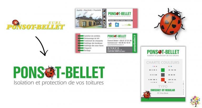 DE BOUCHE A OREILLE - Refonte de l'identité visuelle & déclinaison papeterie pour PONSOT-BELLET.