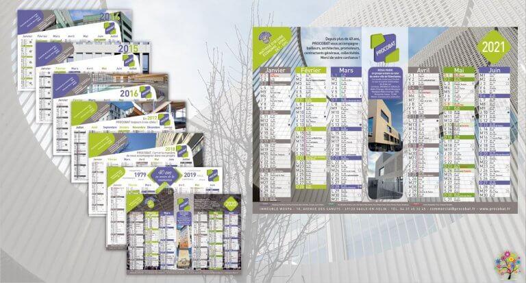 PROCOBAT • Création originale & fabrication de calendriers.