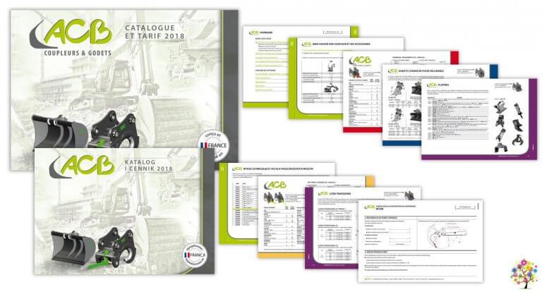 DE BOUCHE A OREILLE • Catalogue tarif 208 pages F - PL • Création originale d'un concept graphique, maquettage & fabrication avec reliure Wire'O et découpe onglets pour ACB.
