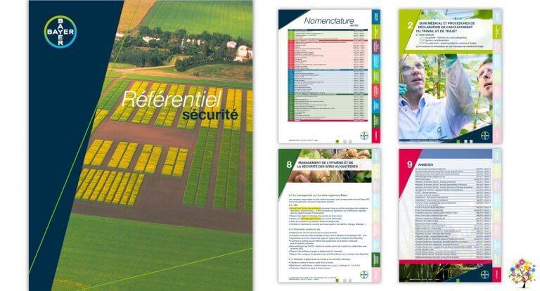 DE BOUCHE A OREILLE • Classeur Référentiel Sécurité • Création originale, fabrication & production du PDF interactif pour BAYER.