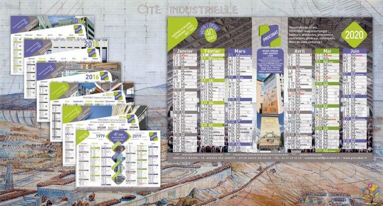 DE BOUCHE A OREILLE • Création originale & fabrication de calendriers feuillets pour PROCOBAT.