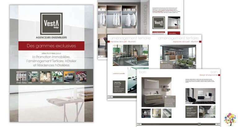 DE BOUCHE A OREILLE • Catalogue général 48 pages • Refonte graphique & fabrication pour VESTA DESIGN.