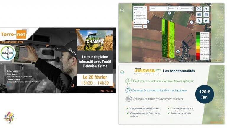 DE BOUCHE A OREILLE • Production d'un support de présentation pour animer un webinaire Tour de plaine interactif avec Climate FieldView pour BAYER.