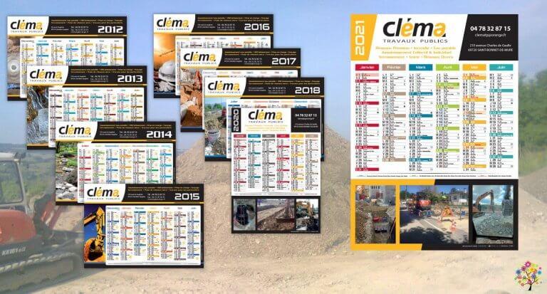 DE BOUCHE A OREILLE • Création originale & fabrication de calendriers pour CLEMA.