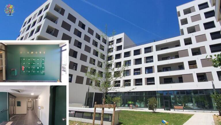 DE BOUCHE A OREILLE • Signalétique immobilière Logements Opération O'SMOSE pour COGEDIM.