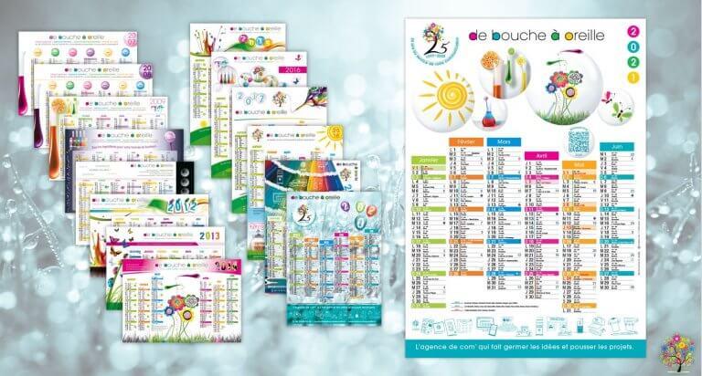 DE BOUCHE A OREILLE • Création originale & fabrication de calendriers.