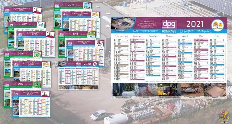 DE BOUCHE A OREILLE • Création originale & fabrication de calendriers pour DPG POMPAGE.