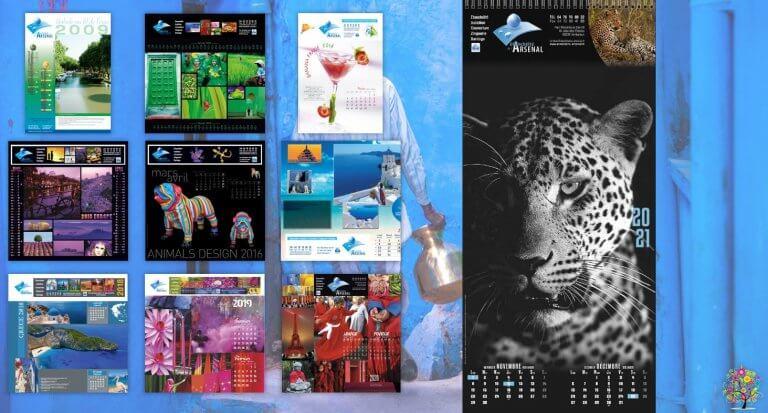 DE BOUCHE A OREILLE • Création originale & fabrication de calendriers feuillets illustrés pour ETANCHEITE DE L'ARSENAL.